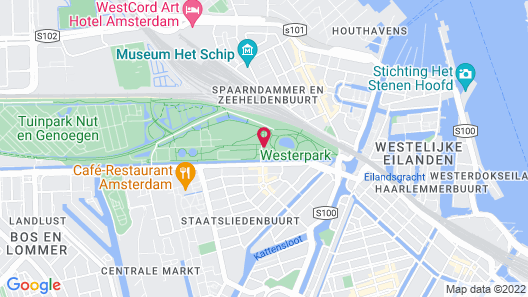Conscious Hotel Westerpark Map