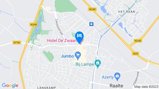 Hotel Restaurant De Zwaan Map