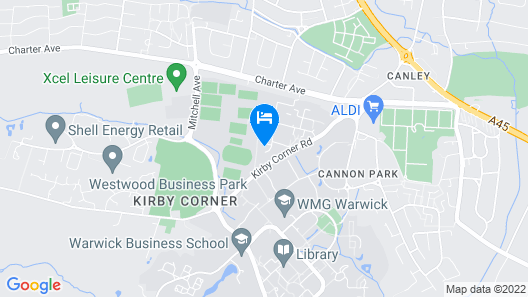 Arden - Warwick Conferences  Map
