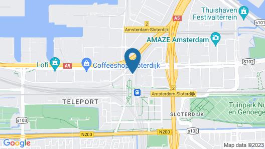 MEININGER Hotel Amsterdam City West Map