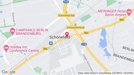 IntercityHotel Berlin-Brandenburg Airport Map