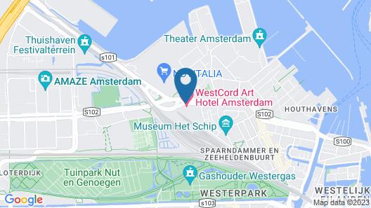 WestCord Art Hotel Amsterdam 3 Map