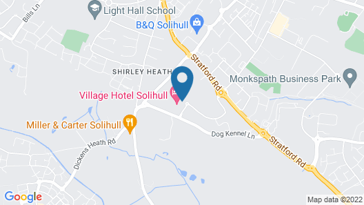Village Hotel Solihull Map