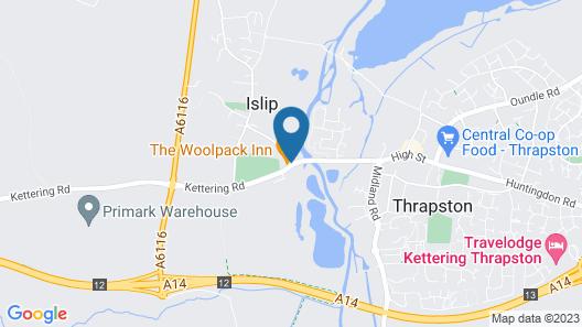 The Woolpack Inn Islip Map