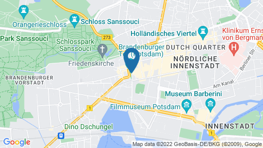 Hotel Brandenburger Tor Potsdam Map
