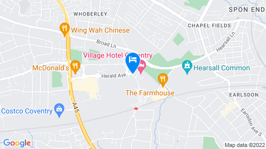 Village Hotel Coventry Map