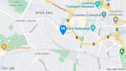 Pleasant Apartment in Coventry Near Belgrade Theatre Map