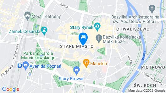 Hampton by Hilton Poznan Old Town Map