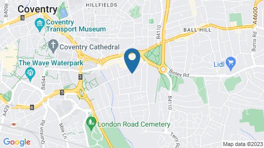 Cosy Hub Coventry-near Fargo Village & City Centre Map