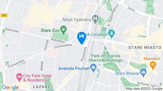 Sheraton Poznan Hotel Map