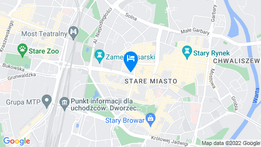 Hotel Altus Poznań Old Town Map
