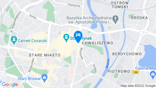 Aparthouse Woźna 11 Old Town Map
