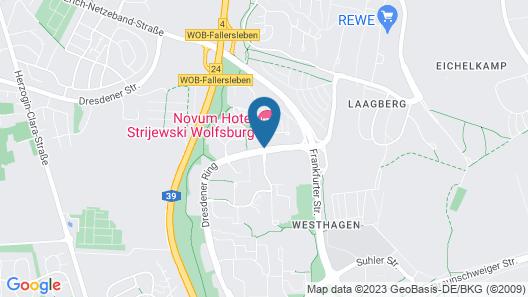 Novum Hotel Strijewski Wolfsburg Map