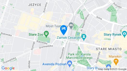 Hotel Mercure Poznan Centrum Map
