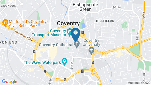 Britannia Hotel Coventry Map