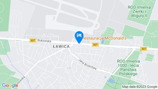 Moxy Poznan Airport Map