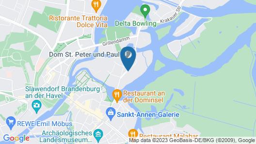 Fewo auf der Dominsel Map