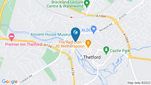The Bell Hotel Thetford by Greene King Inns Map