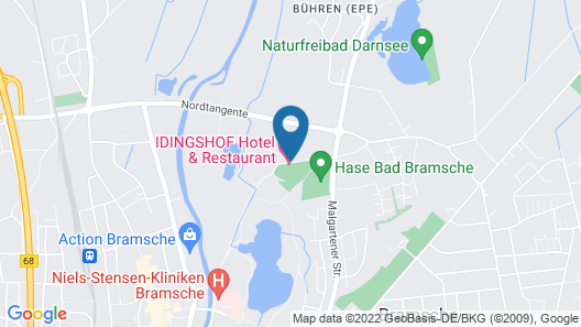 IDINGSHOF Hotel & Restaurant Map