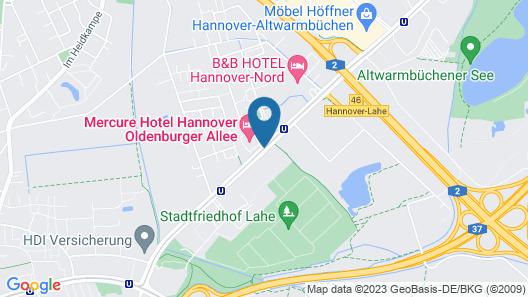 Mercure Hotel Hannover Oldenburger Allee Map