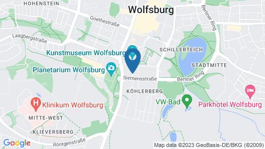 Leonardo Hotel Wolfsburg City Center Map