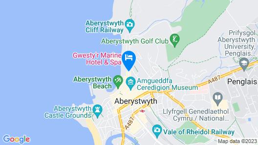 Gwesty'r Marine Hotel & Spa Map