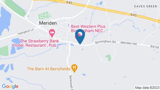 Best Western Plus Birmingham NEC Meriden Manor Hotel Map