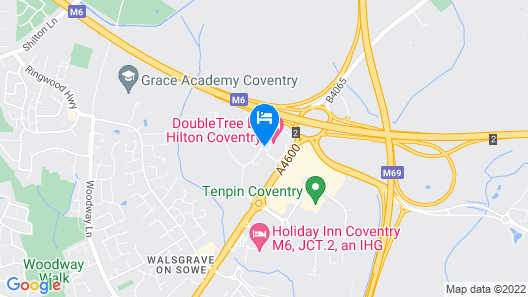 Doubletree by Hilton Hotel Coventry Map