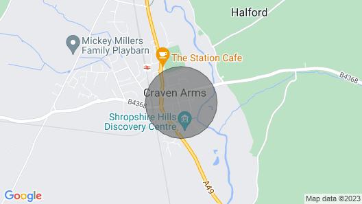 Lucea Cottage 1 Bed Bungalow Sleeps 2 Craven Arms Shropshire Map