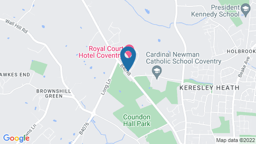 Royal Court Hotel & Spa Coventry Map