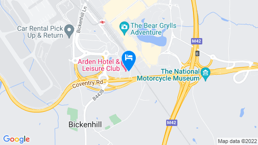 The Arden Hotel & Leisure Club Map