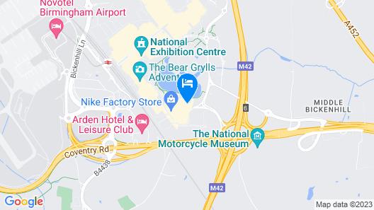Crowne Plaza Birmingham NEC Map