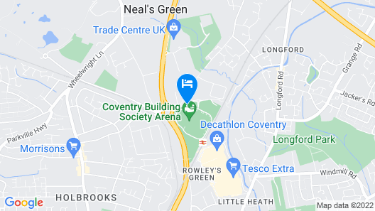 DoubleTree by Hilton Hotel at the Ricoh Arena - Coventry Map