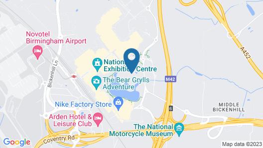Hilton Birmingham Metropole Map