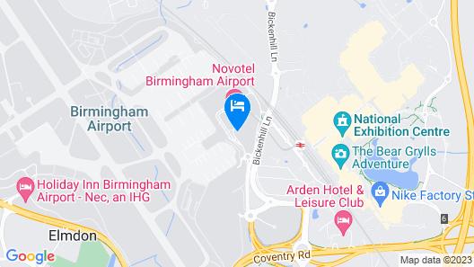 Hilton Garden Inn Birmingham Airport Map