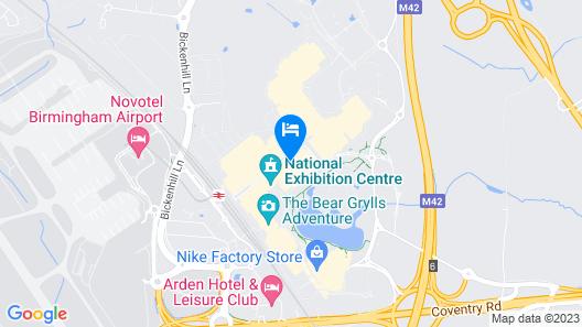 Moxy Birmingham NEC Map