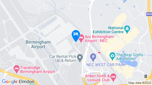 ibis budget Birmingham International Airport - NEC Map
