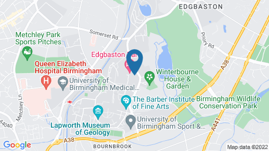 Edgbaston Park Hotel Birmingham Map