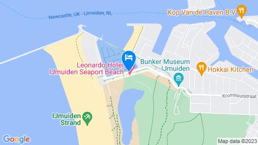 Apollo Hotel Ijmuiden Seaport Beach Map