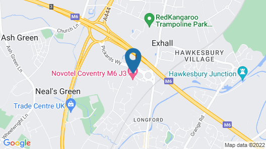 Novotel Coventry M6/J3 Map