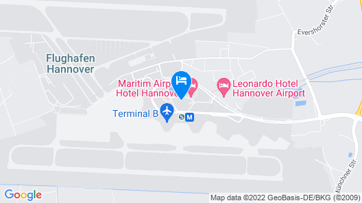 Maritim Airport Hotel Hannover Map