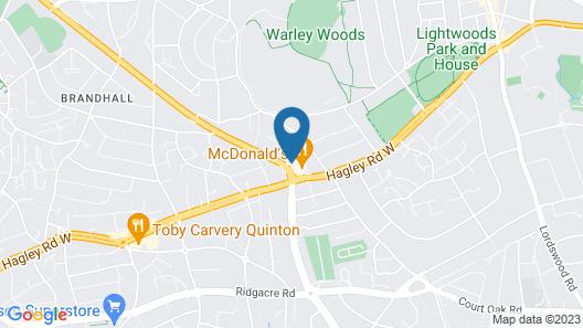 Birmingham Best Inn Map