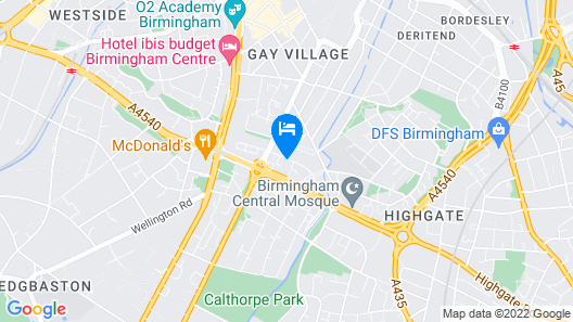 Tudors eSuites Birmingham House Private Garden Free Parking  Map