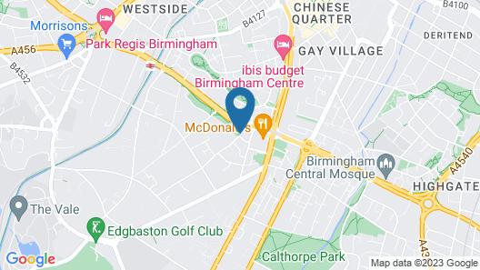 Tudors eSuites Birmingham Apartments with Parking Map