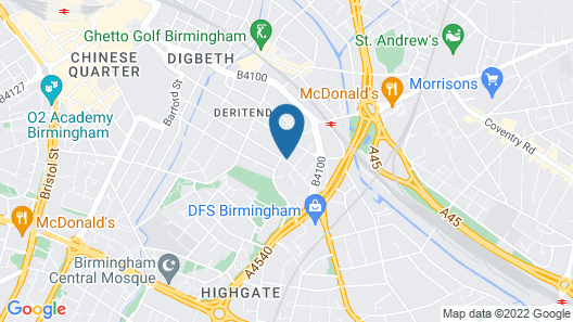 The Moseley Arms Map