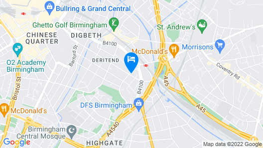 Birmingham Central Rooms Map