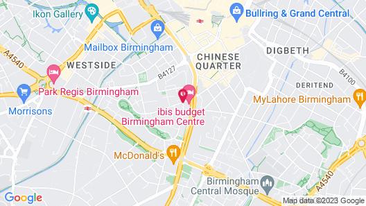 ibis budget Birmingham Centre Map