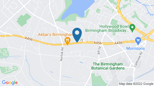 Birmingham Strathallan Hotel, BW Signature Collection Map