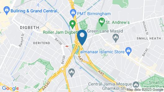 ibis Birmingham Bordesley Circus Map