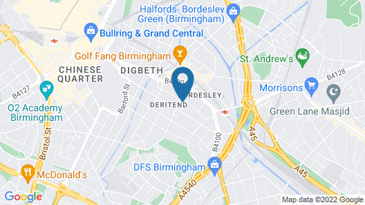2-bed Penthouse With Terrace in Birmingham Map